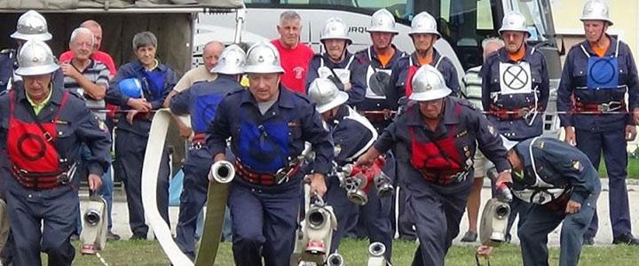 Študa na tradicionalnem gasilskem tekmovanju gostila gasilke veteranke in veterane