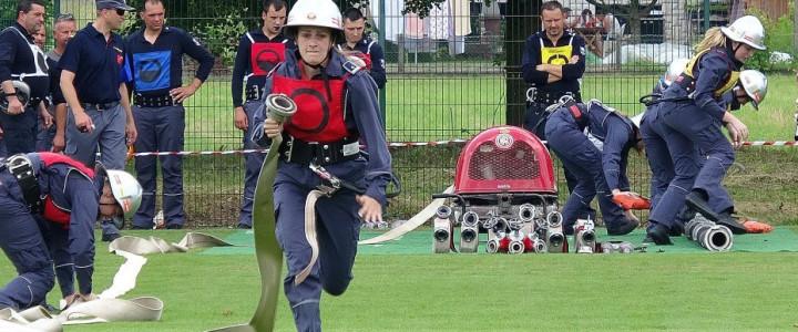 Članske gasilske desetine tekmovale za prehodni pokal KS Dob