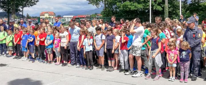 Gasilska mladina tekmovala na občinskem tekmovanju GZ Domžale