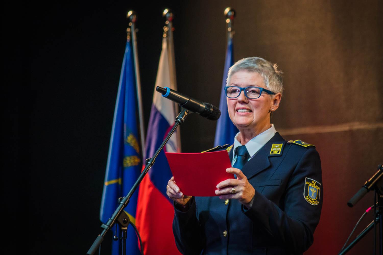 Zbrane je nagovorila predsednica Gasilske zveze Domžale Marjeta Kristan, ki se je zahvalila vsem zbranim, da so dobrodelni gasilski koncert vzeli za svojega.