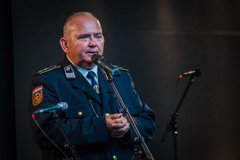 Zbrane je pozdravil tudi veliki prijatelj domžalskih gasilcev Ivek Golubić, predsednik Gasilske zveze Koprivnica, ki se z delegacijo vsako leto udeleži koncerta.